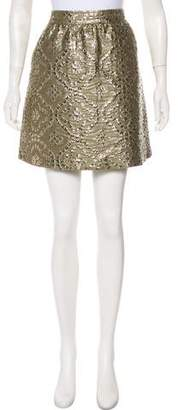 RED Valentino Metallic Mini Skirt