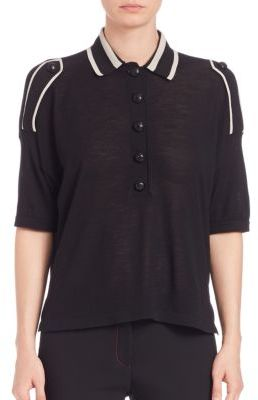 Burberry Burberry Epaulette-Detail Wool Polo Shirt