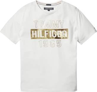 Tommy Hilfiger Girls Foil Print Logo Tee