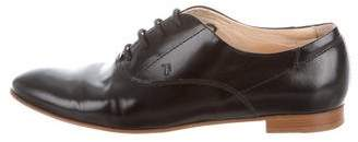 Tod's Patent Leather Round-Toe Oxfords