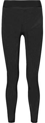 Heroine Sport - Illusion Stretch-mesh Leggings - Black