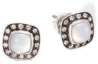David Yurman Diamond, Moonquartz and Sterling Silver Earrings