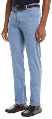 Kiton Men's Straight-Leg Twill Pants
