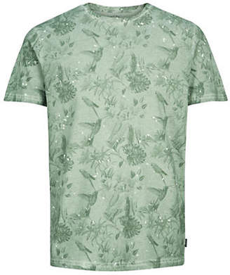 Jack and Jones Botanical-Print Short-Sleeve Cotton Tee