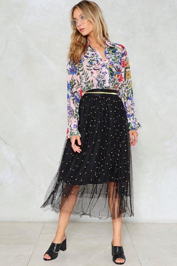 nastygal Witching Hour Midi Skirt
