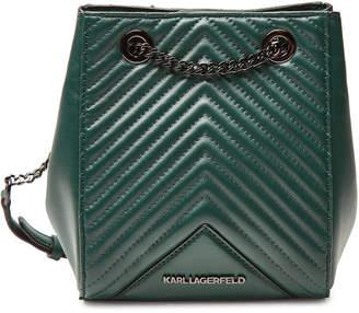 Karl Lagerfeld K/Klassik Quilted Leather Bucket Bag
