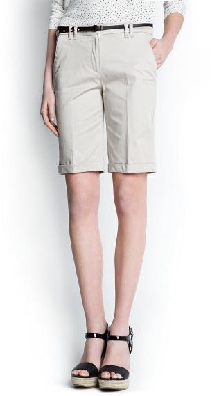 MANGO Cotton bermuda shorts