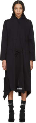 Vetements Black Panelled Hooded Dress