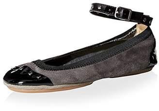 Yosi Samra Women's Abbey Ballet Flat Ankle Strap