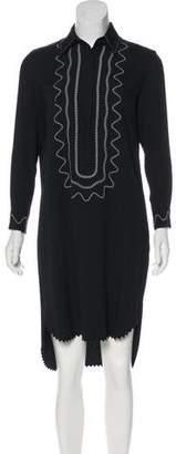 Christopher Kane Long Sleeve Midi Dress