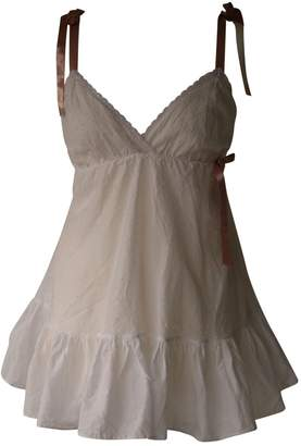 Myla White Cotton Top for Women