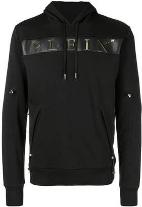 Philipp Plein logo zip pocket hoodie