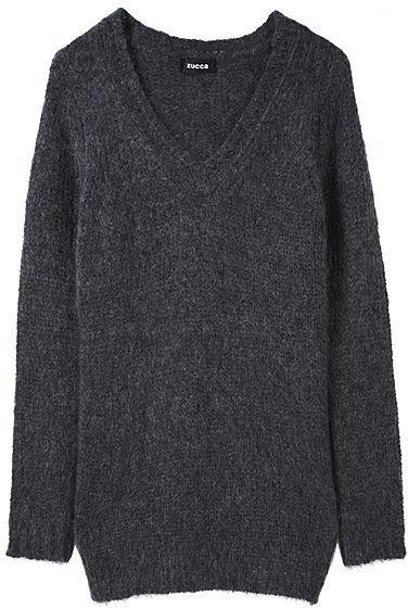 Zucca Mohair V-Neck Sweater