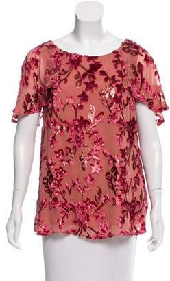 Paul & Joe Floral Short Sleeve Top w/ Tags