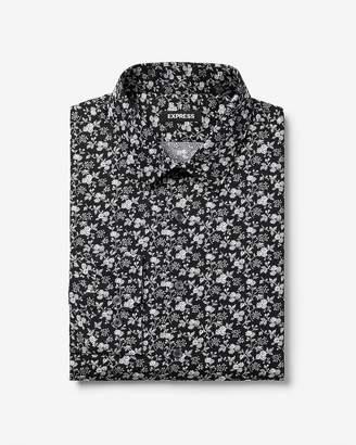 Express Slim Floral Dress Shirt