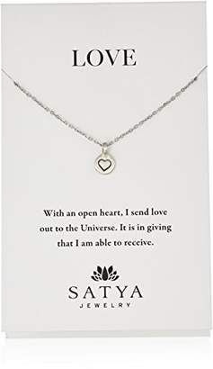 Satya Jewelry Sterling Mini Tender Heart Chain Necklace
