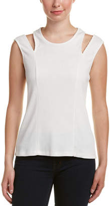 DREW Rhonda Cold-Shoulder Ribbed Top