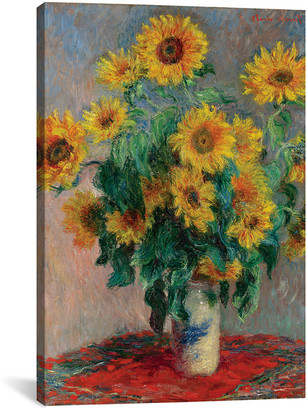 iCanvas icanvasart Bouquet Of Sunflowers, 1881 By Claude Monet