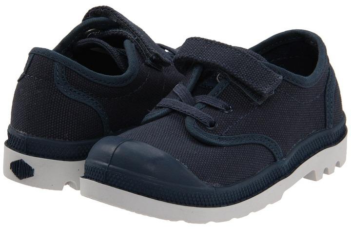 Palladium Pampa Oxford (Toddler) (Indigo/Vapor) - Footwear
