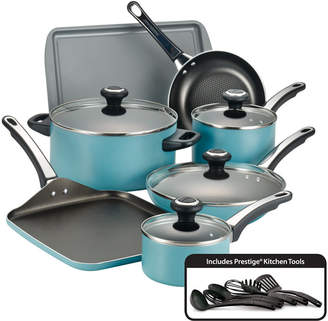 Farberware 17-Pc. Non-Stick Aluminum Cookware Set