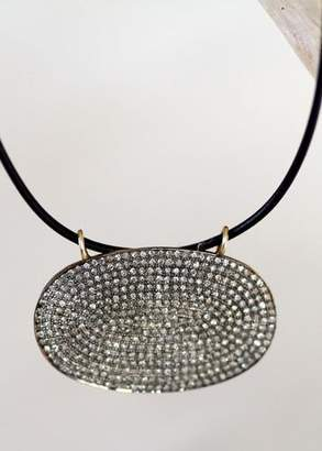 Designs By Alina Grand Pave With 14k Chain Or Leather Necklace