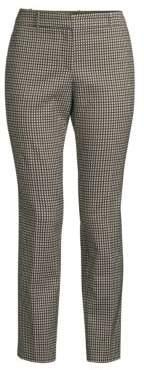 BOSS Acrilida Crop Check-Print Trousers