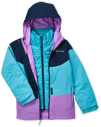 Columbia Girls 7-16) Whirlibird 2-in-1 Hooded Jacket
