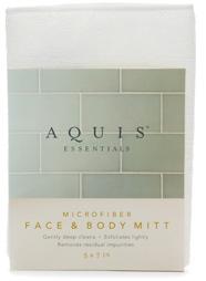 Aquis Essentials Microfiber Face & Body Mitt