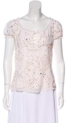 Diane von Furstenberg Embellished Silk Blouse