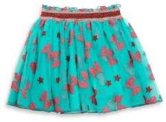Gucci Baby's Bow-Embroidered Tulle Skirt