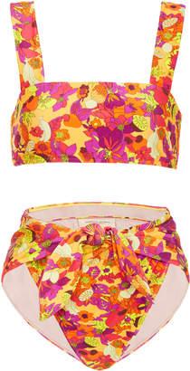 Adriana Degreas Fruits Print High Leg Bikini