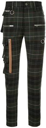 Undercover checked biker trousers