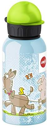 Emsa 514397 Kids drink flask, fruit acid resistant, BPA free, 400 ml, Farm Animals