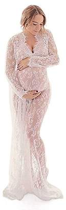 SODIALaternity Photography Propsaxiaternity Gown V-neck Lace Dresses Pregnancy Dress Fancy Shooting Photo Pregnant Clothes