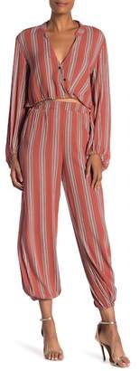 Style Rack Striped 2- Piece Shirt and Pants Set