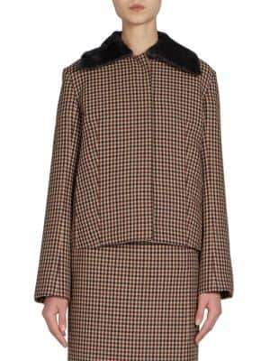 Nina Ricci Checked Wool Jacket