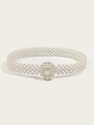 Shein Faux Pearl Beaded Belt