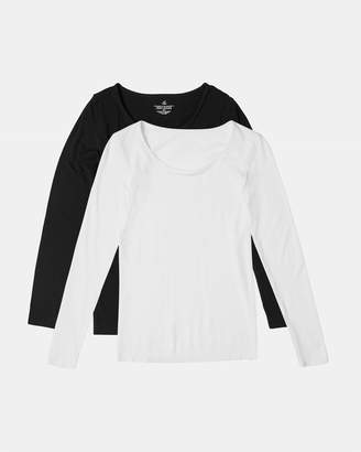 2 Pack Long Sleeve Crew Neck Top