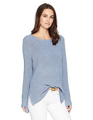 Kensie Women's Indigo Mix Knit Sweater