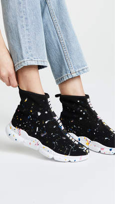 MSGM Multicolor Drip Runner Sneakers