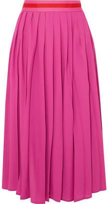 Maggie Marilyn - Boring People Get Bored Pleated Chiffon Midi Skirt - Fuchsia