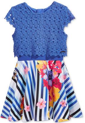 Sean John Lace Popover Dress, Big Girls (7-16) $54 thestylecure.com