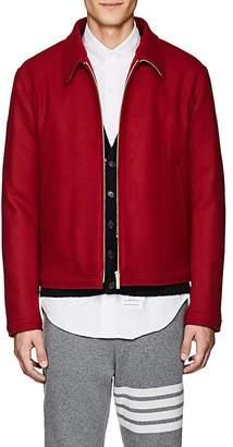 Thom Browne Men's Button-Detailed Wool Melton Jacket