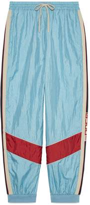 Gucci stripe nylon jogging pant