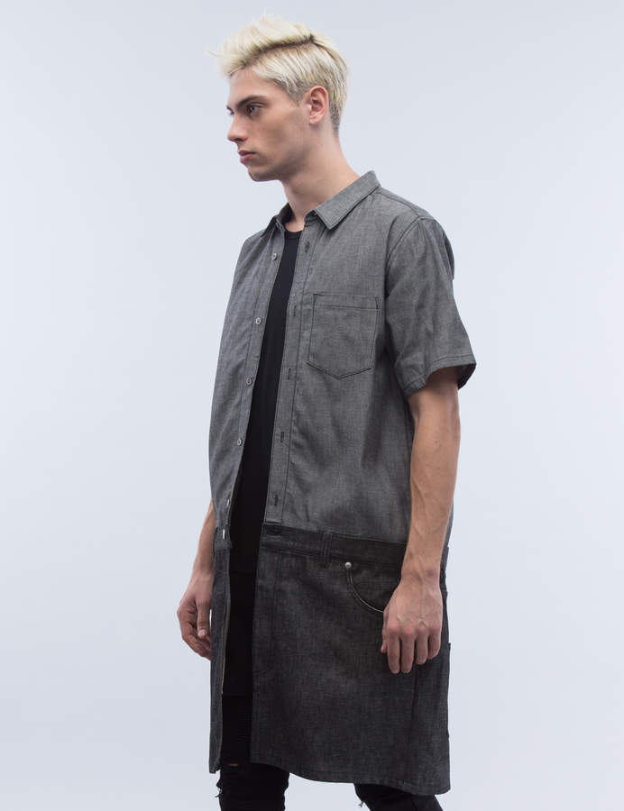 Kidill Denim Fake Jumsuit S/S Shirt