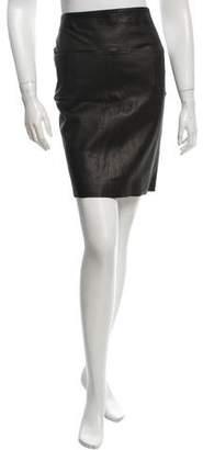 Graham & Spencer Leather Mini Skirt