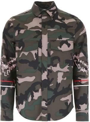 Valentino Logo Camouflage Jacket