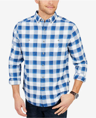 Nautica Men Classic Fit Buffalo Plaid Flannel Shirt