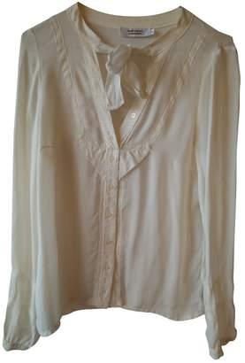 Comptoir des Cotonniers Ecru Silk Top for Women