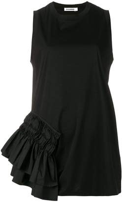 Jil Sander flared sleeveless top